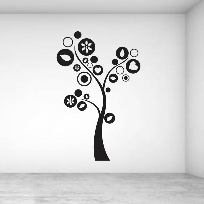 Stenske nalepke drevesa in rastline
