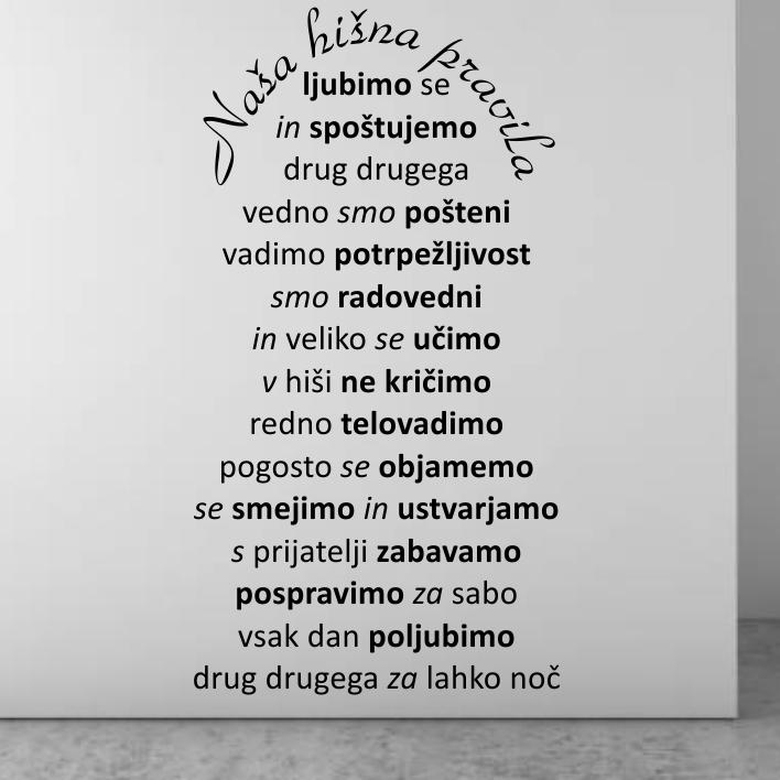 Stenske nalepke Slovenski napisi in citati