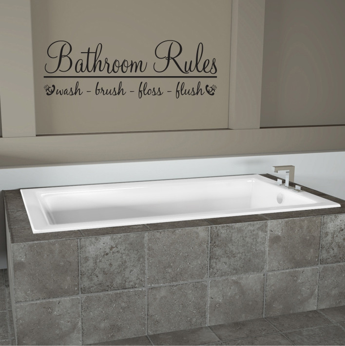Bathroom Rules A0048