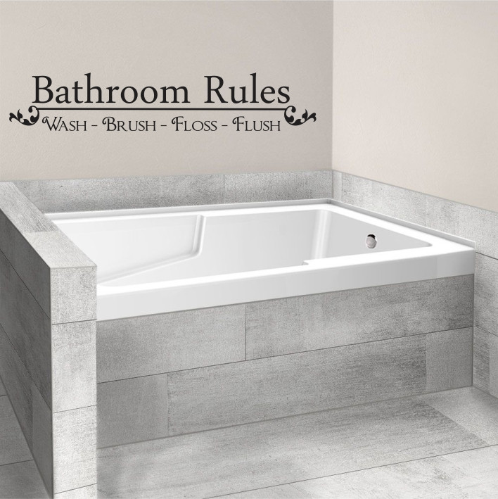Bathroom Rules A0052