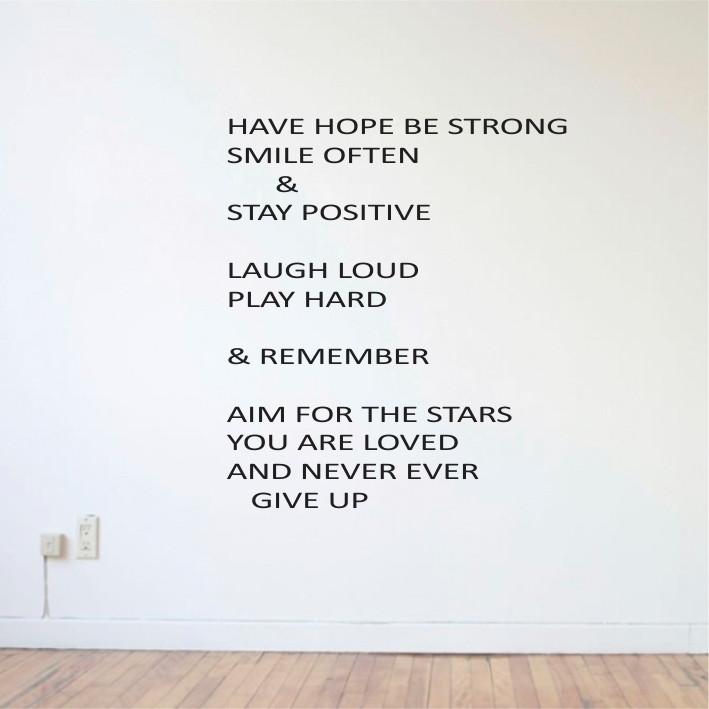 Have hope, Be strong