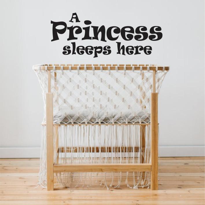 A Princess sleeps here