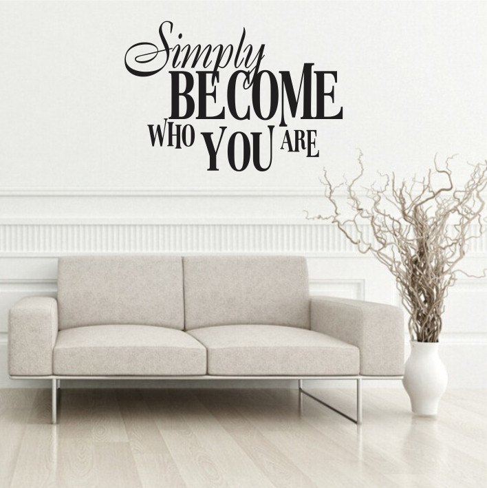 Simply become who you are A0089