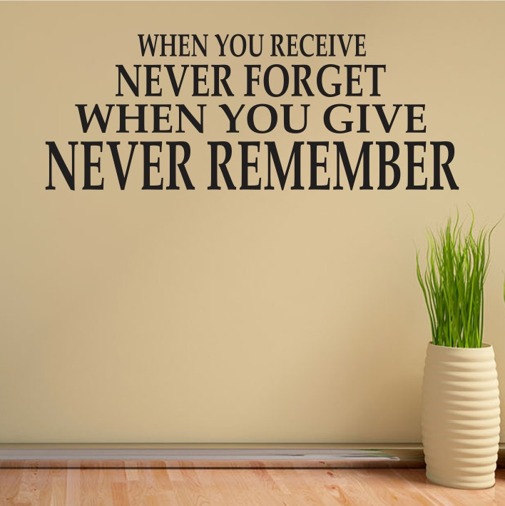 When you receive