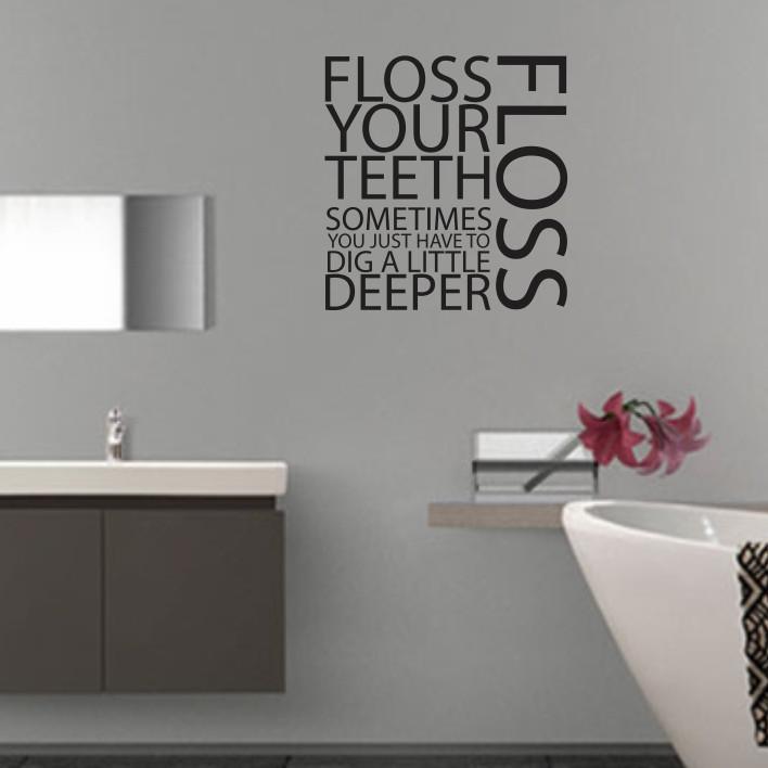 Floss your teeth A0137