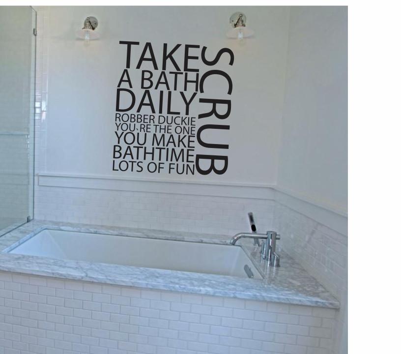 Take a bath daily A0149