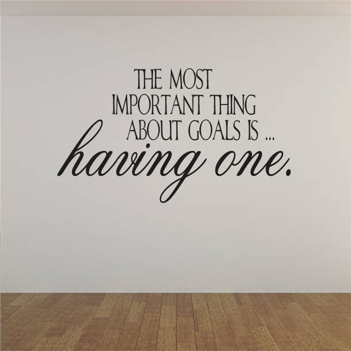 The most important thing about goals is... A0180