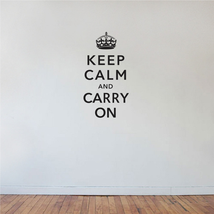 Keep calm and carry on A0183