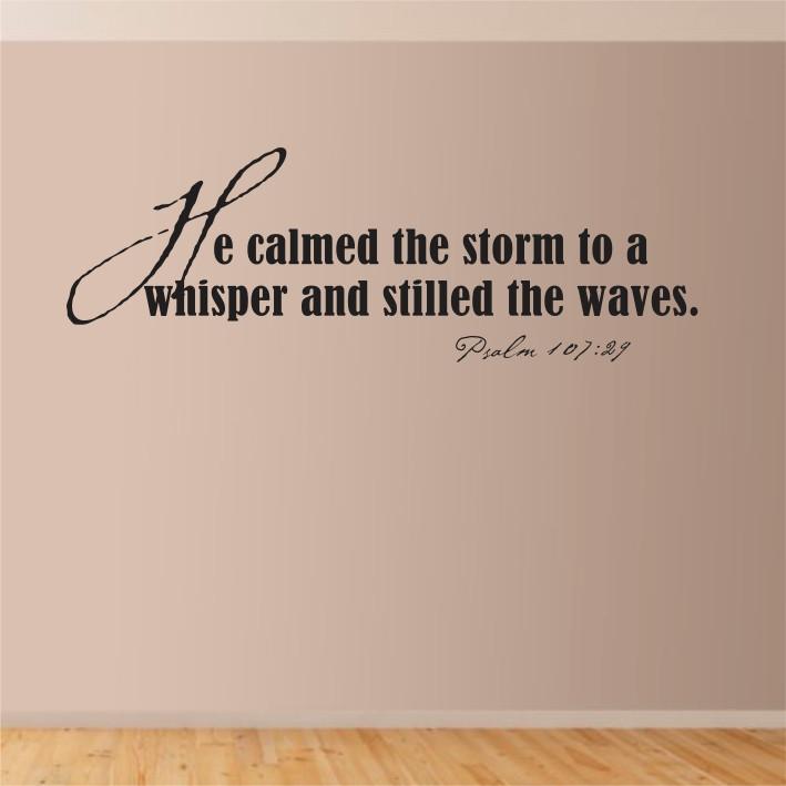 He calmed the storm... A0191