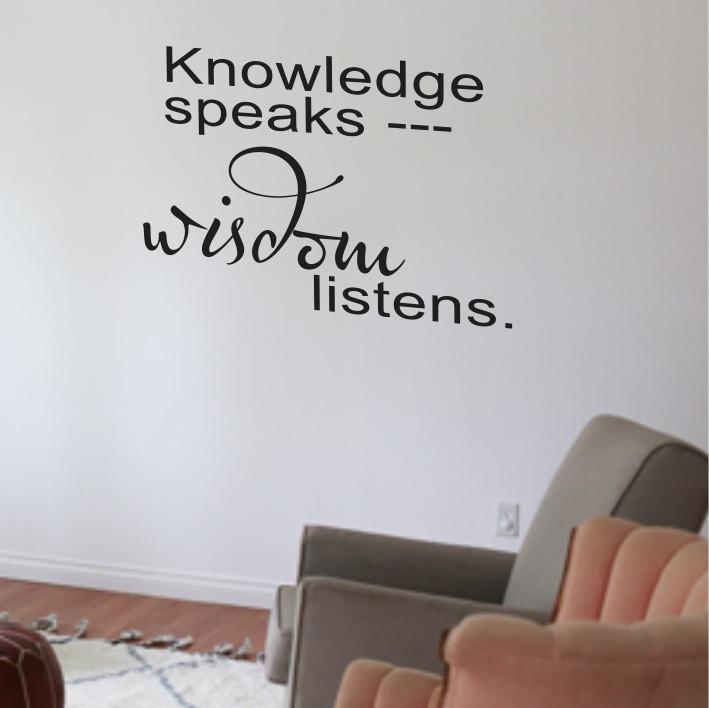 Knowledge speaks A0299