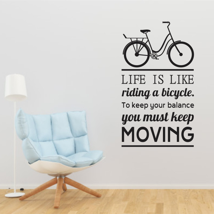 Life is like riding a bicycle A0350