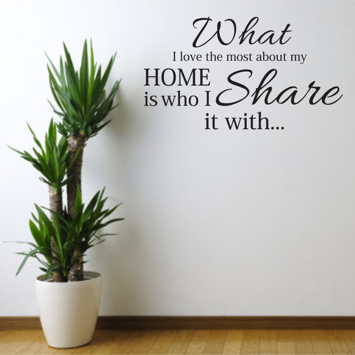 What I love the most about my home is who I share it with A0368