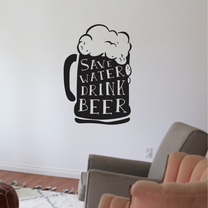 Save water drink beer A0399