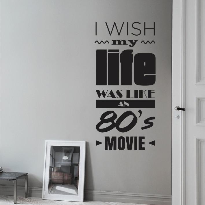 I wish my life was like an 80's movie A0466