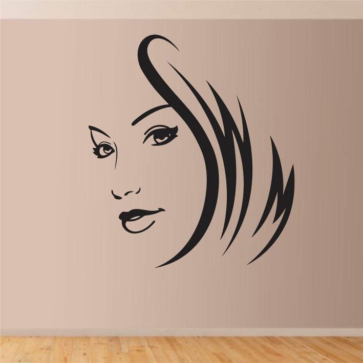 Stenska nalepka Ženski obraz C0001