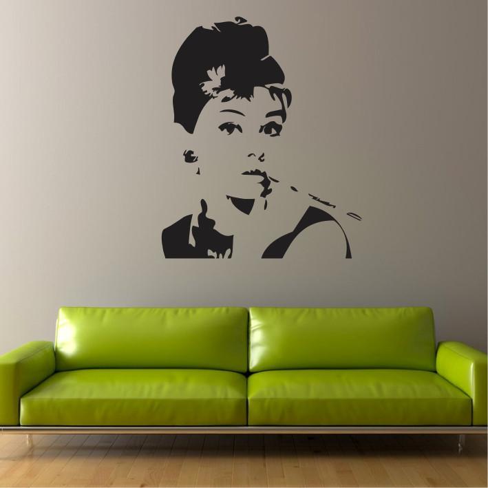 Stenska nalepka Audrey Hepburn C0053