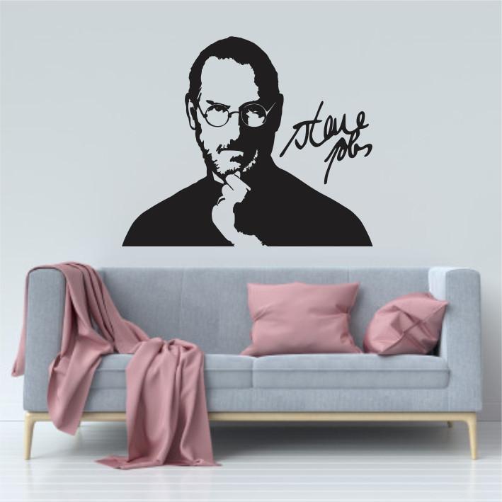 Stenska nalepka Steve Jobs C0067