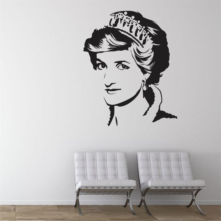 Stenska nalepka Princesa Diana C0068
