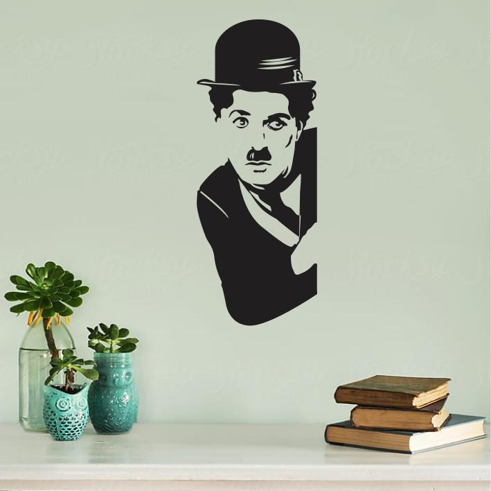 Stenska nalepka Charlie Chaplin C0069