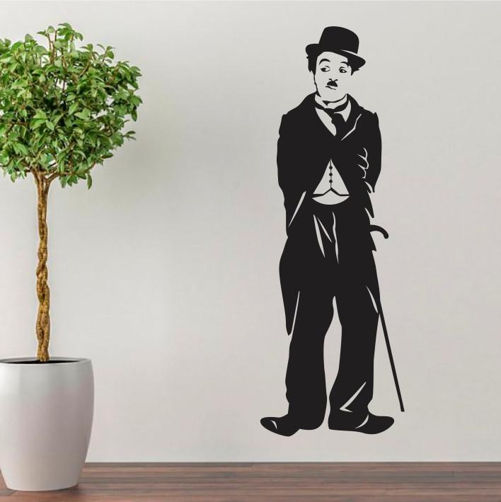 Stenska nalepka Charlie Chaplin C0076