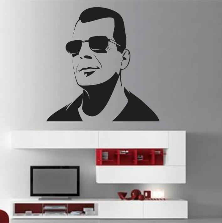 Stenska nalepka Bruce Willis C0079