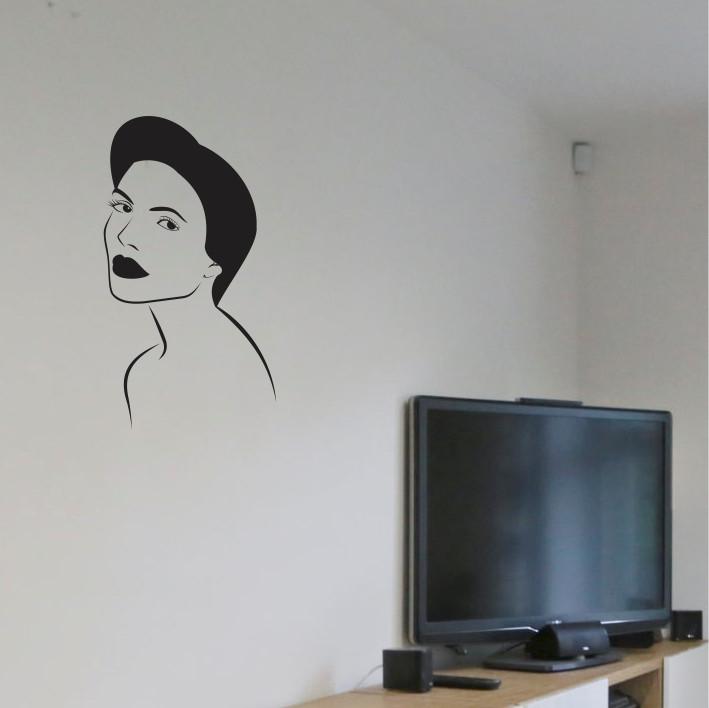 Stenska nalepka Ženski obraz C0091
