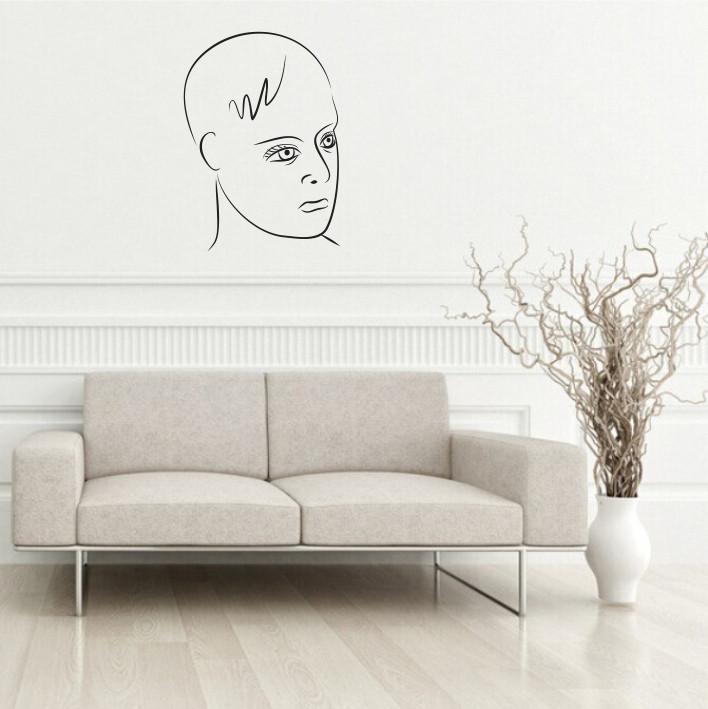 Stenska nalepka Ženski obraz silhueta C0094