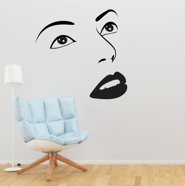 Stenska nalepka Ženski obraz C0095