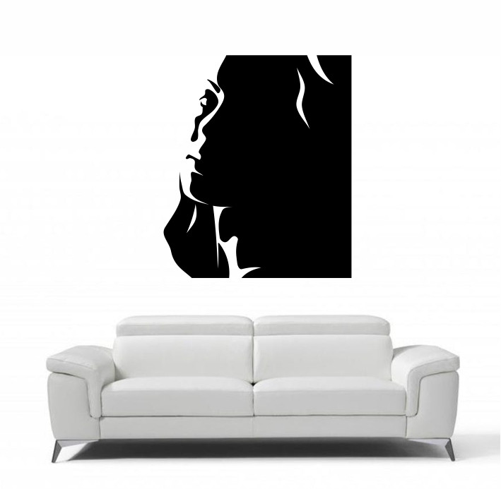 Stenska nalepka Ženski obraz C0118