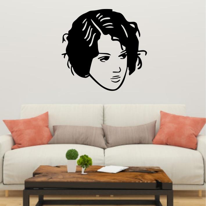 Stenska nalepka Ženski obraz C0124