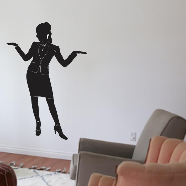 Stenska nalepka Poslovna ženska C0132