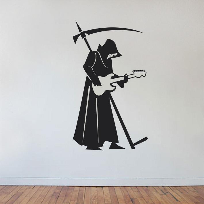 Stenska nalepka Smrt s kitaro C0155