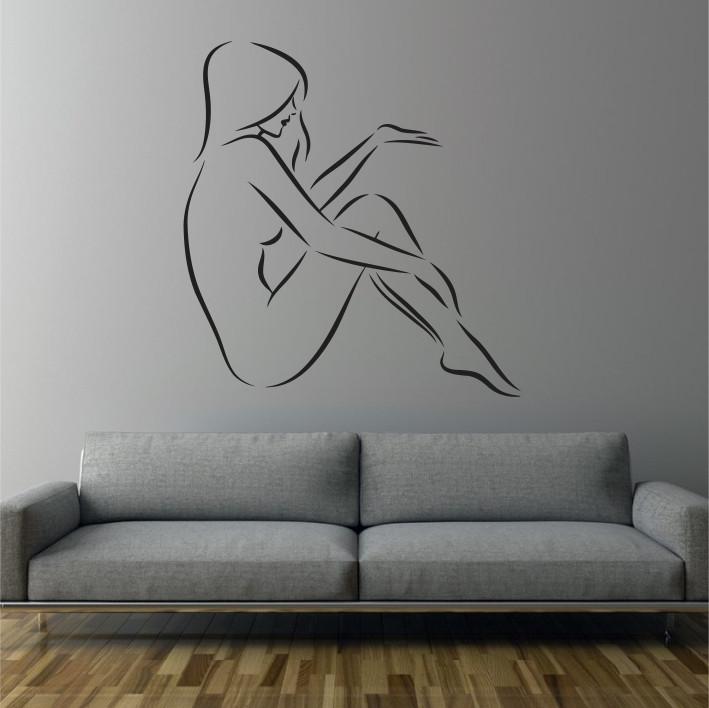 Stenska nalepka Ženska silhueta C0039