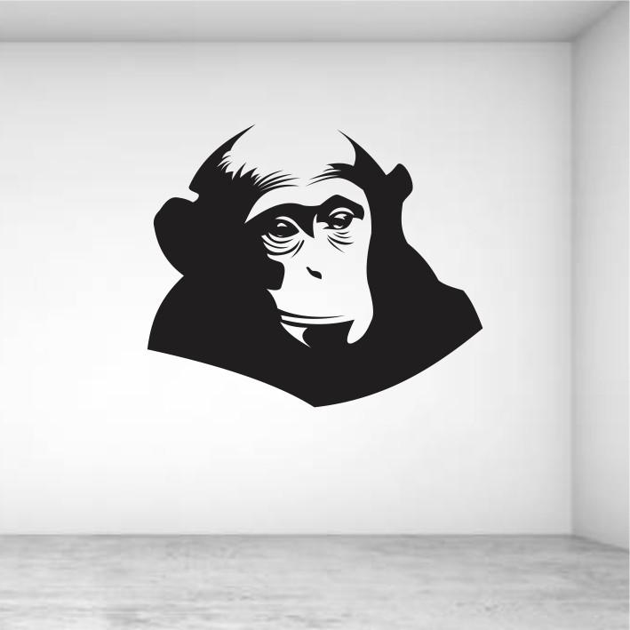 Stenska nalepka Opica E0078