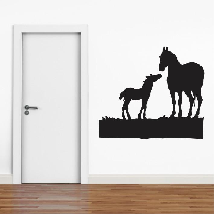 Stenska nalepka Konja E0222