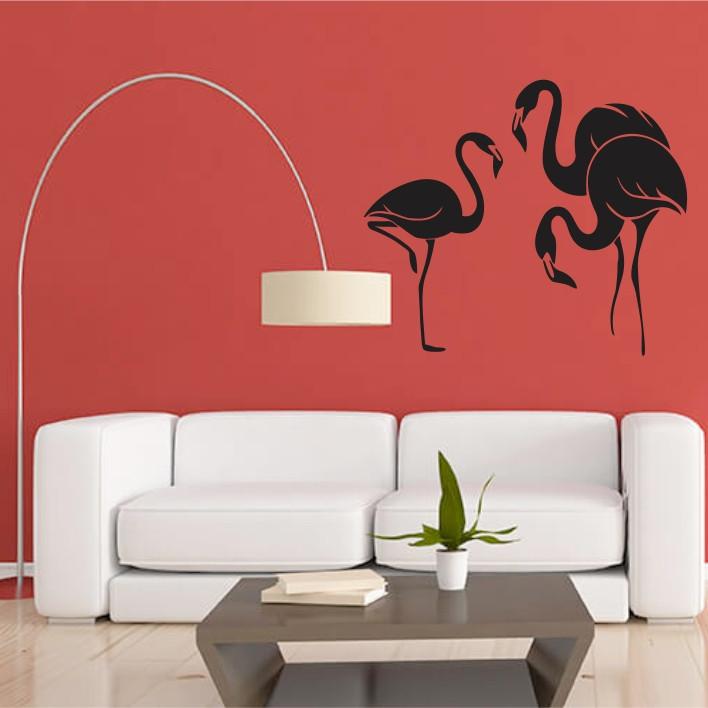 Stenska nalepka Flamingi E0388
