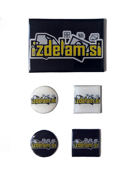 Epoksidni 3D emblem magnet z vašim motivom