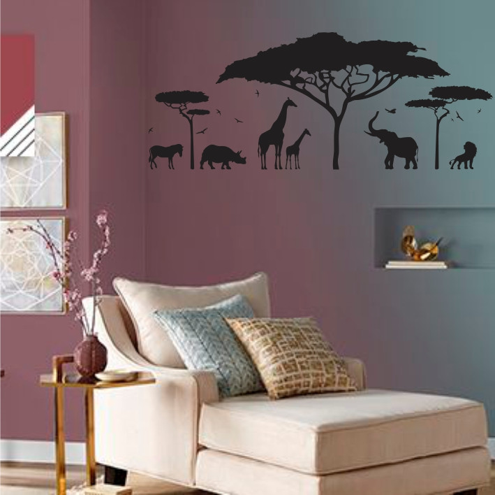 Stenska nalepka Afriški safari G0399