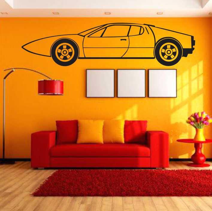Stenska nalepka Avtomobil H0162