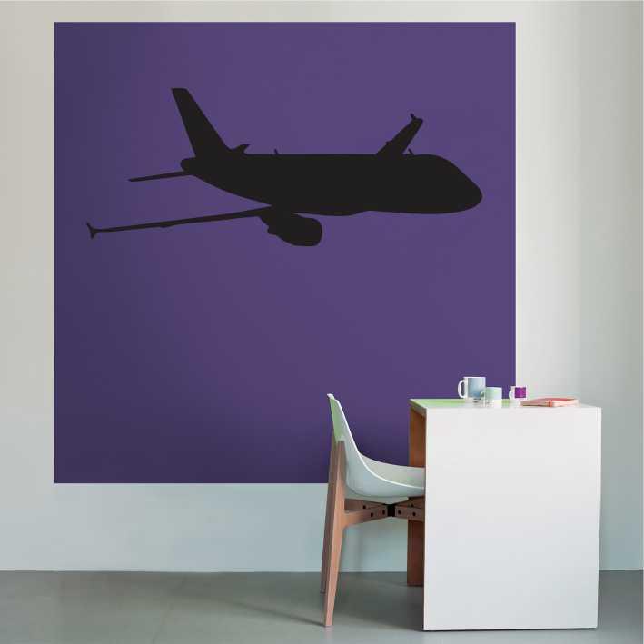 Stenska nalepka Letalo K0038