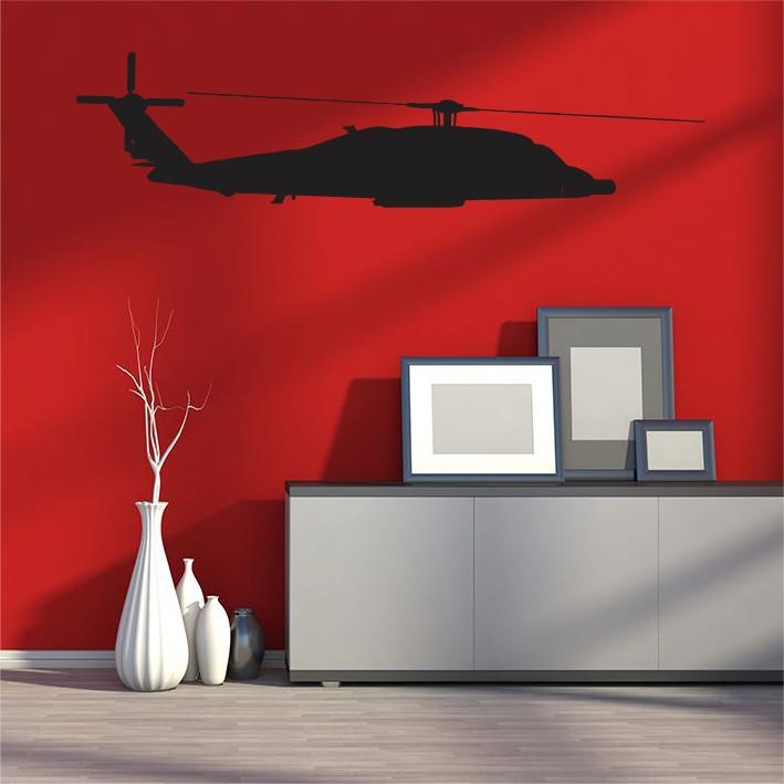Stenska nalepka Helikopter K0165
