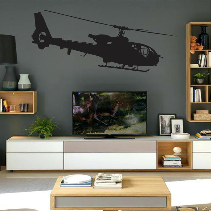 Stenska nalepka Helikopter K0232