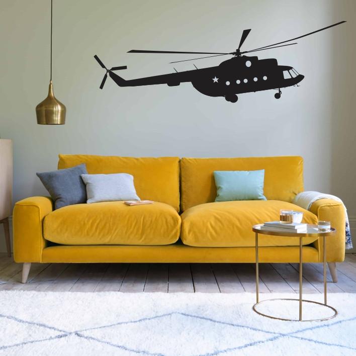 Stenska nalepka Helikopter K0249