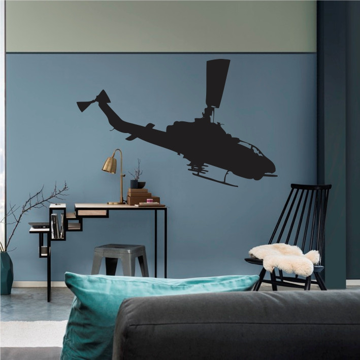 Stenska nalepka Helikopter K0255