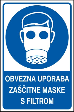 Obvezna uporaba zaščitne maske s filtrom