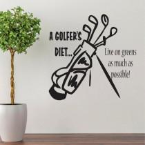A golfer's diet ...