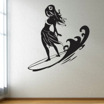Stenska nalepka Surferka C0049