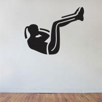 Stenska nalepka Ženska telovadi C0051