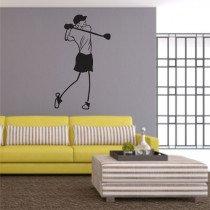 Stenska nalepka Igralec golfa C0149