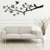 Stenska nalepka Ptice na veji G0360